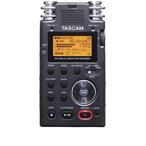 Reportofon digital profesional Tascam DR-100MKII, card SD 2GB inclus, 7 ore imagine spy-shop.ro 2021