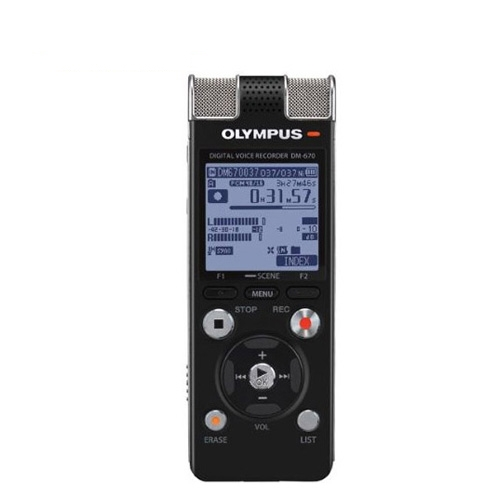 Reportofon digital Olympus DM-670 V407111BE000, 8GB, 46 ore imagine spy-shop.ro 2021