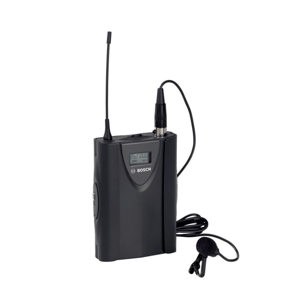 Microfon wireless tip lavaliera Bosch MW1-LTX-F4, 193 canale, LCD, autonomie 15 ore imagine spy-shop.ro 2021
