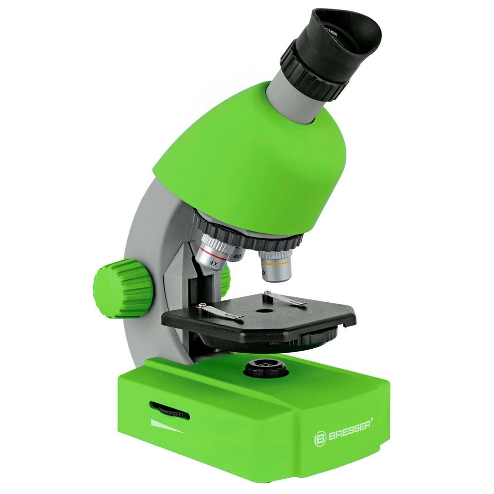 Microscop optic Bresser Junior 40x-640x verde