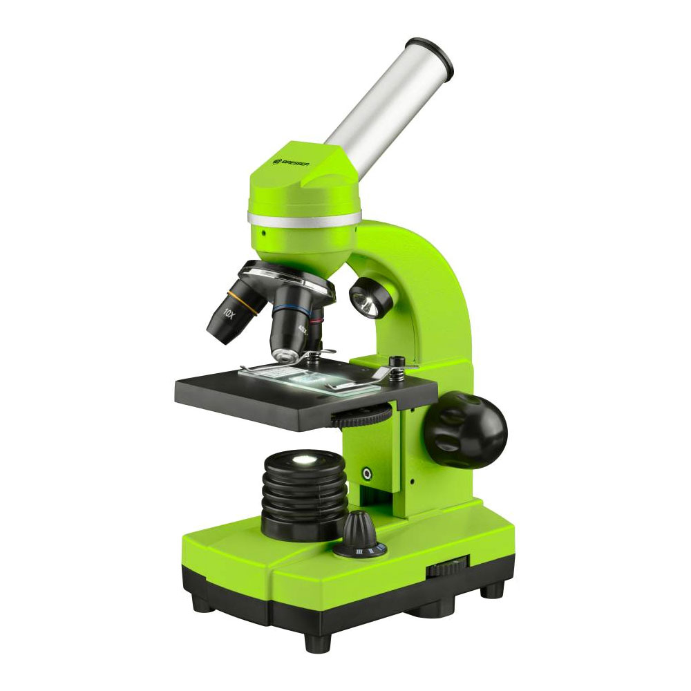 Microscop optic Bresser Junior Student Biolux SEL, verde