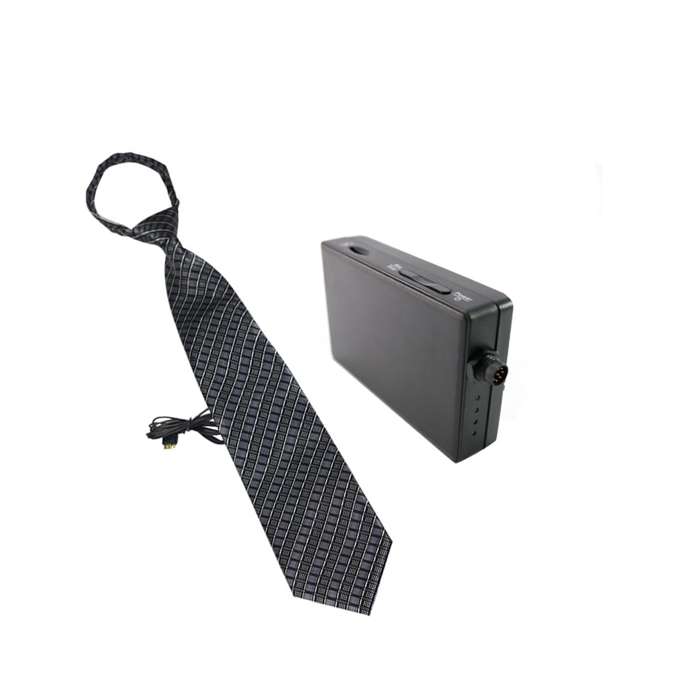 Kit mini DVR portabil cu camera spion ascunsa in cravata NT-18HD+PV-500NEO, 2 MP, WiFi, microfon incorporat imagine