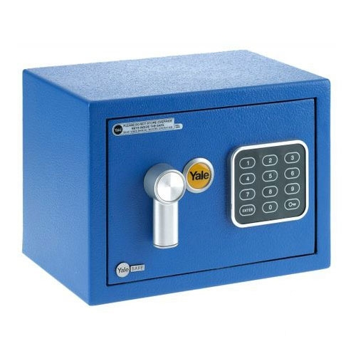 Mini seif rezidential YALE YSV/170/DB1/B, albastru, otel, 100000 combinatii imagine spy-shop.ro 2021