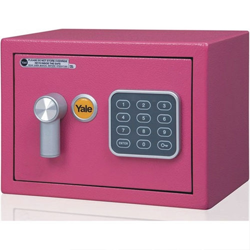 Mini seif rezidential YALE YSV/170/DB1/P, roz, 100000 combinatii imagine spy-shop.ro 2021