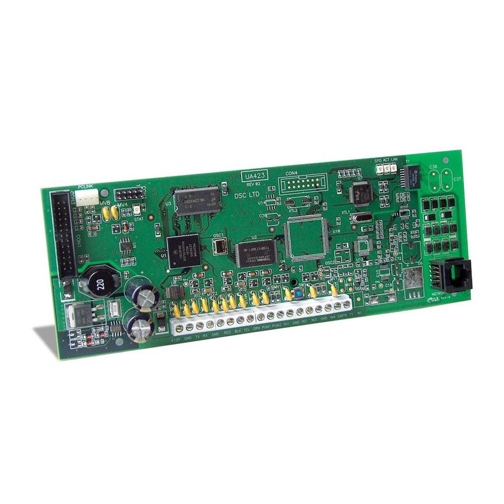 Modul comunicator IP DSC T-LINK-250, 10/100BaseT, 4 intrari, 2 iesiri PGM