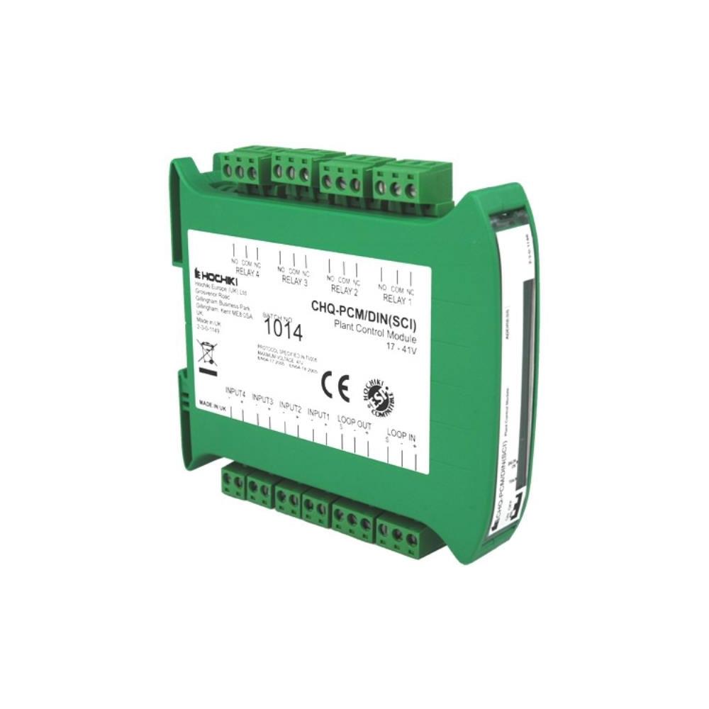 Modul control instalatie analog-adresabil cu izolator la scurt-circuit Hochiki ESPIntelligent CHQ-PCM/DIN(SCI)/SIL, SIL2, sina DIN, 4 intrari/iesiri