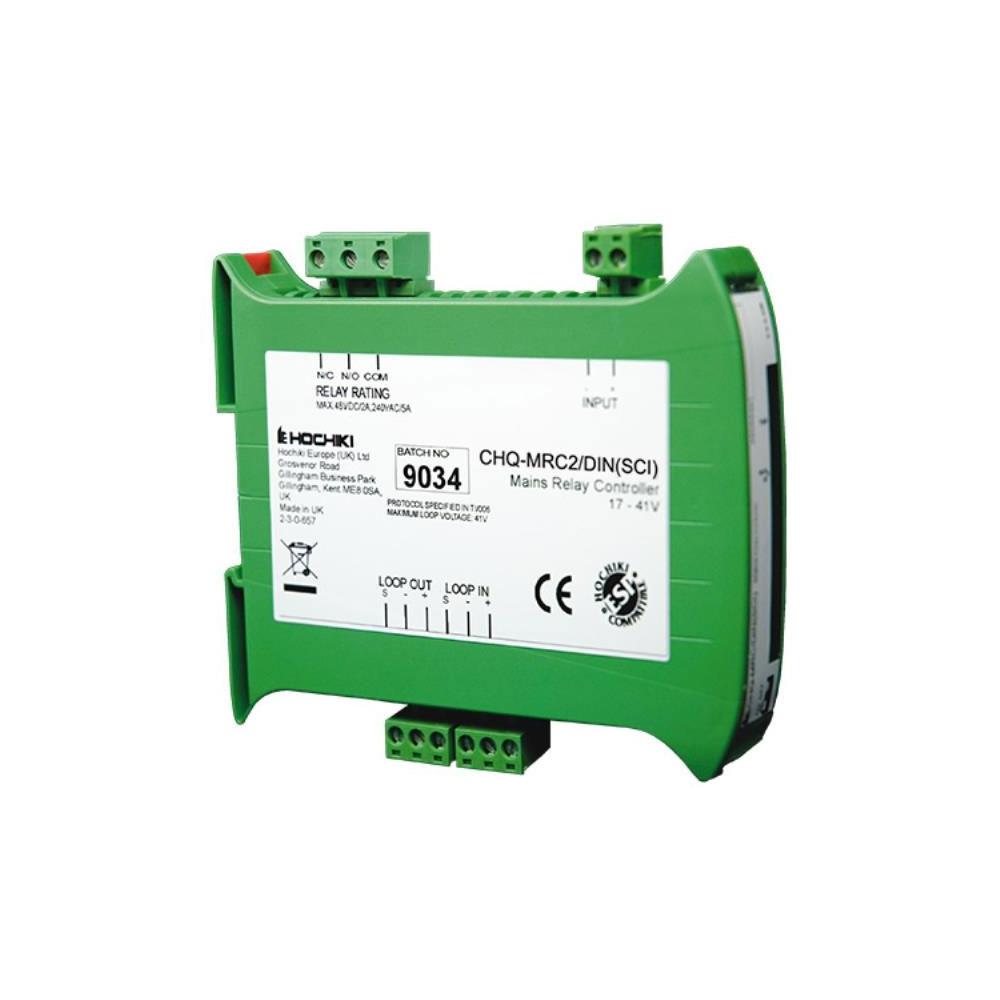 Modul controler analog releu de retea cu izolator la scurt-circuit Hochiki ESPIntelligent CHQ-MRC2/DIN(SCI), sina DIN, comutatoare DIL. 1 intrare/iesire imagine spy-shop.ro 2021
