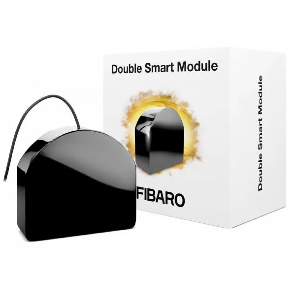 Modul de control Fibaro Double Smart Module FGS-224 ZW5, 868 MHz, Z-Wave Plus, RF 50 m, 2 canale, 9.5 A