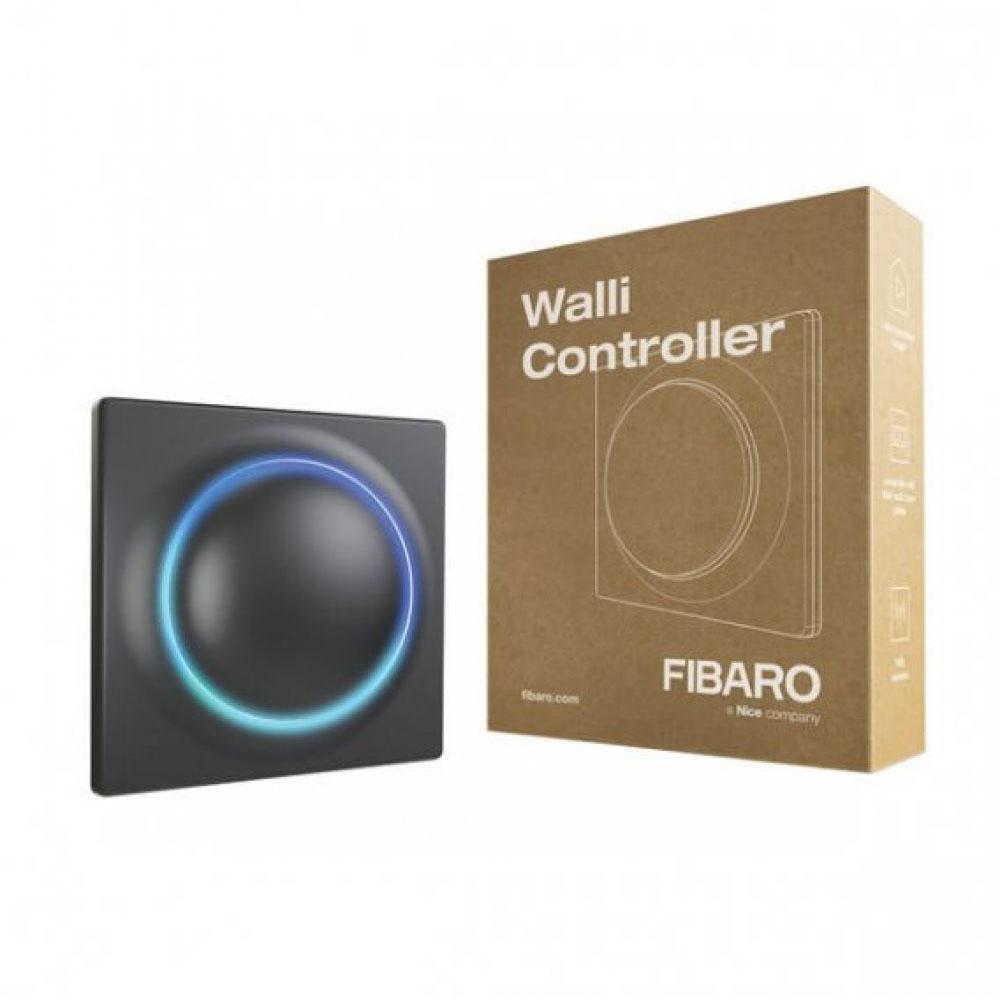 Modul de control smart multifunctional Fibaro Walli Controller FGWCEU-201-1-8, 2 butoane, Z-Wave Plus, 868/869 MHz, RF 50 m, contor putere/consum, gri
