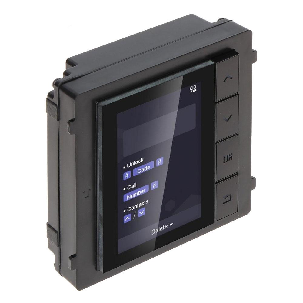 Modul de extensie cu display pentru videointerfon Hikvision DS-KD-DIS, aparent/ingropat, LCD imagine spy-shop.ro 2021