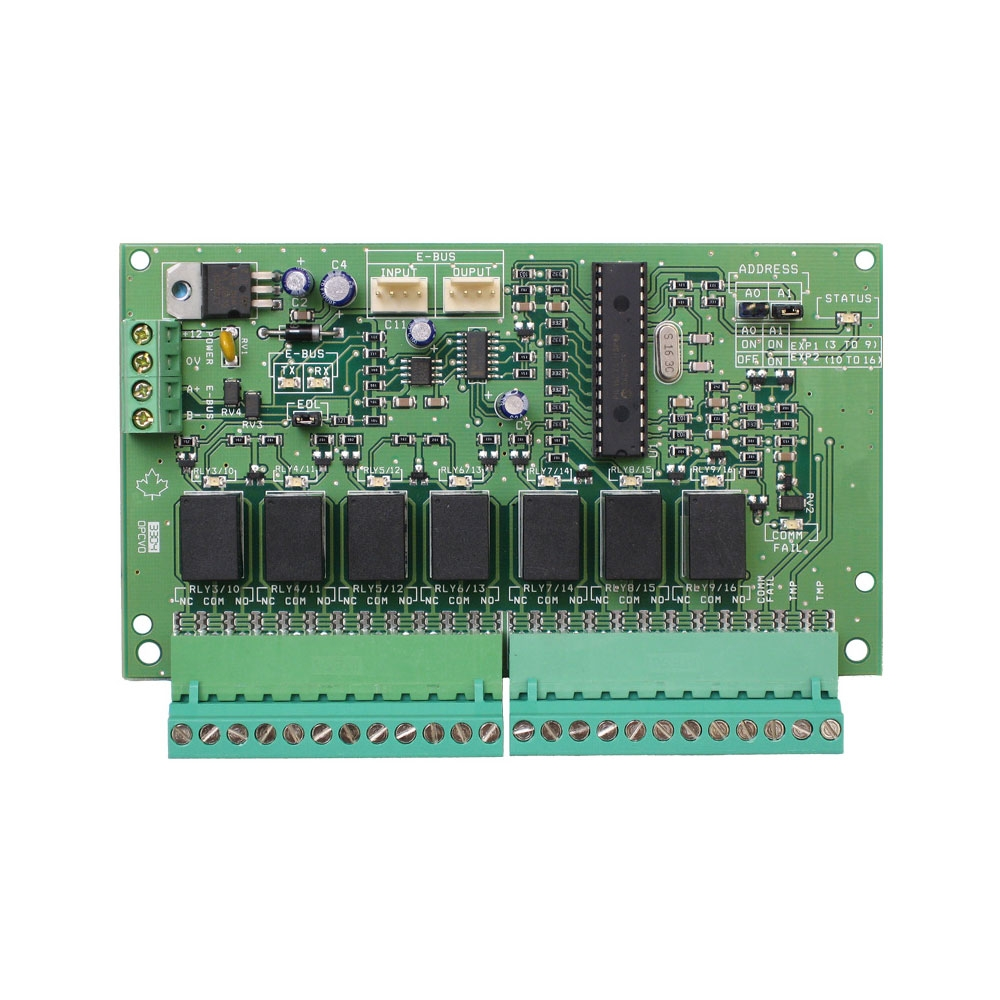 Modul de extensie relee CDVI Centaur CA-A460-P, 7 relee, E-Bus imagine spy-shop.ro 2021