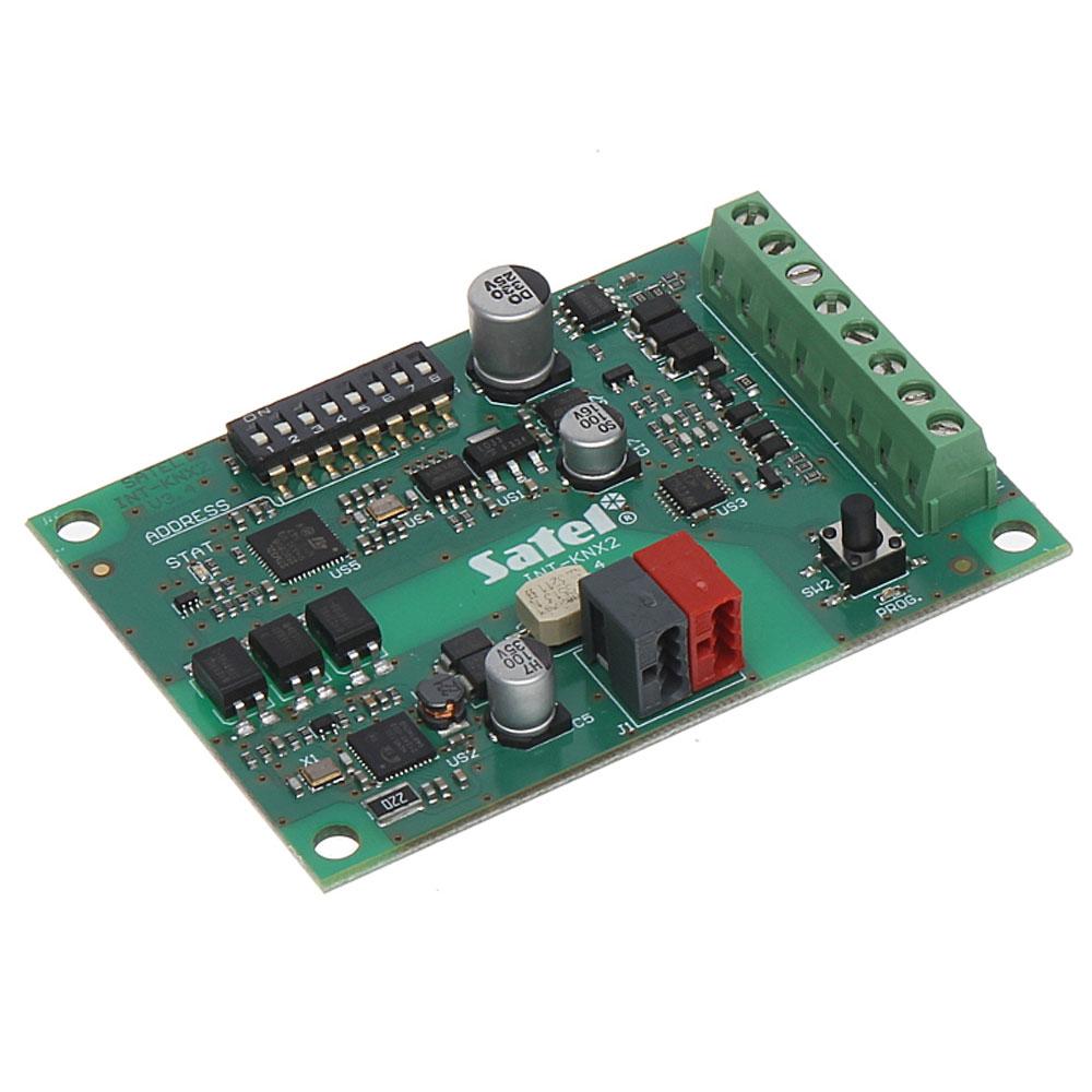 Modul de integrare Satel INT-KNX-2, conectare pe bus, 8-64 iesiri, 12 VDC