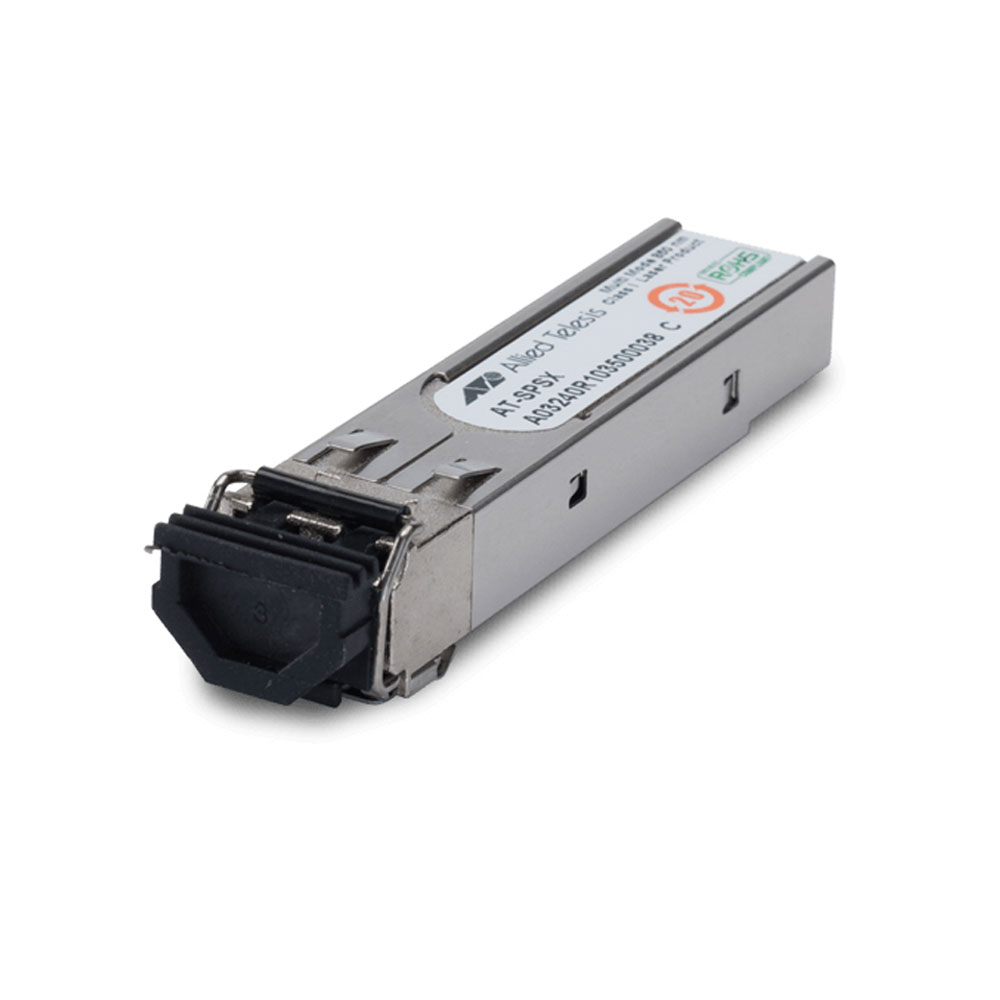 Modul fibra optica multi-mod Allied Telesis AT-SPSX, 1250 Mbps, SFP, 850 nm, 550 m