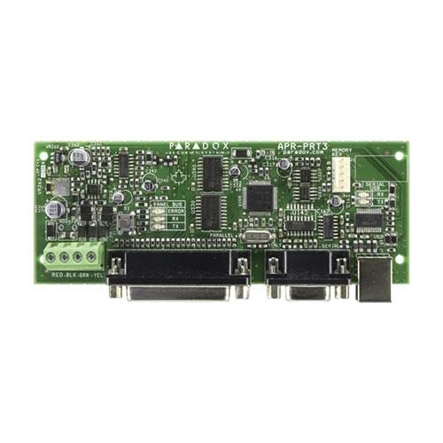 Modul integrator Paradox PRT3, 30 PGM virtuale, port serial/paralel, 2048 evenimente