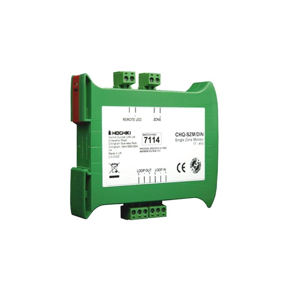 Modul monitorizare zona analog-adresabil cu izolator la scurt-circuit Hochiki ESPIntelligent CHQ-SZM2/DIN(SCI), 1 zona, 6 detectori, sina DIN imagine spy-shop.ro 2021