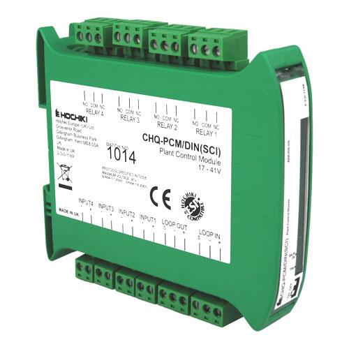 Modul control instalatie analog-adresabil cu izolator la scurt-circuit Hochiki ESPIntelligent CHQ-PCM/DIN(SCI), sina DIN, 4 intrari/iesiri