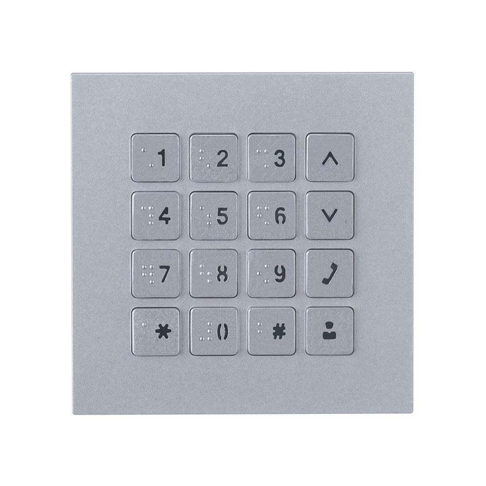 Modul tastatura pentru videointerfon de exterior Dahua VTO4202F-MK, aparent/ingropat, 5 V DC imagine spy-shop.ro 2021
