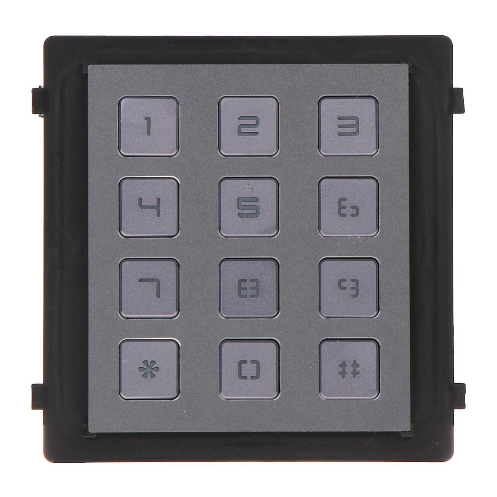 Modul tastatura pentru videointerfon HIKVISION DS-KD-KP, 12 butoane, aparent/ingropat, 12 V imagine spy-shop.ro 2021