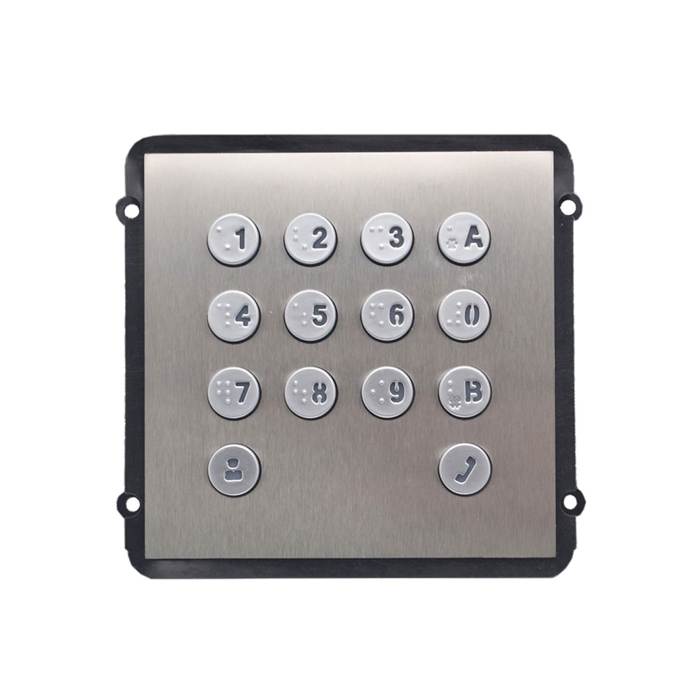 Modul tastatura pentru videointerfon modular de exterior Dahua VTO2000A-K, aparent/ingropat, DC 12V imagine spy-shop.ro 2021