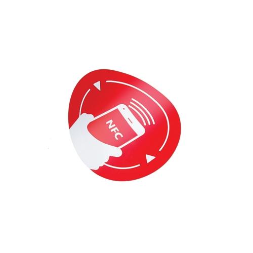 Eticheta NFC autoadeziva NFC-3513-rd/bk, MIFARE, antimetal, reinscriptibil