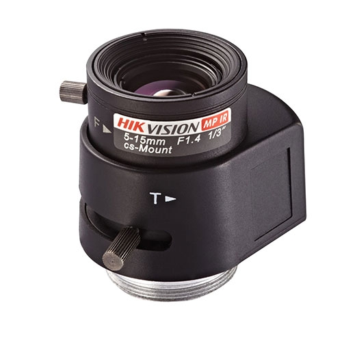 Obiectiv varifocal asferic pentru camere Hikvision TV0515D-MPIR, 5-15 mm, 41°-19°, auto Iris