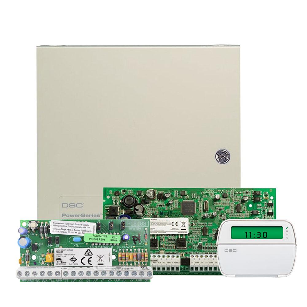 Kit alarma antiefractie DSC Power PC 1616 NK+RFK 5501+PC 5108, 6-16 zone, 32 zone wireless, 48 utilizatori imagine