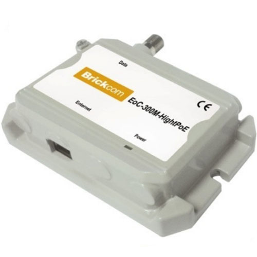ETHERNET OVER COAXIAL BRICKCOM EOC-300 M SI S-HIGHPOE