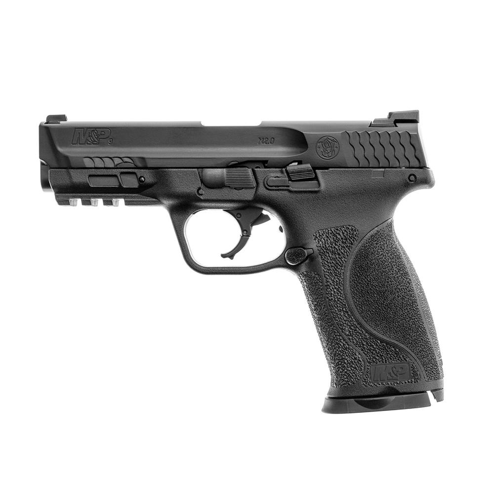 Pistol paintball cu bile de cauciuc/creta/vopsea Umarex Smith & Wesson M&P9 M2.0 T4E, cal.43 – black, 5 jouli imagine spy-shop.ro 2021