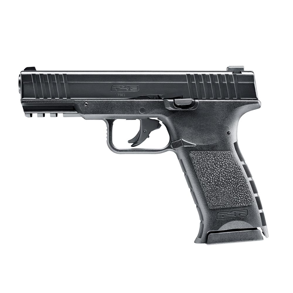 Pistol paintball cu bile de cauciuc/creta/vopsea Umarex TPM 1 T4E, cal.43 – black, 7.5 jouli