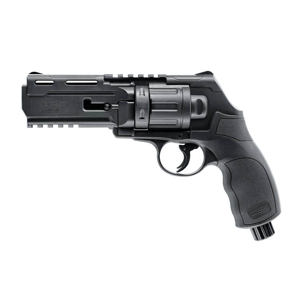 Pistol paintball cu bile de cauciuc/creta/vopsea Umarex Walther T4E HDR 50, cal. .50 – black, 11 jouli imagine spy-shop.ro 2021