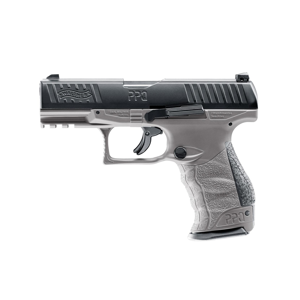 Pistol paintball cu bile de cauciuc/creta/vopsea Umarex Walther T4E PPQ M2, cal. .43 – Tungsten Gray, 7.5 jouli imagine spy-shop.ro 2021