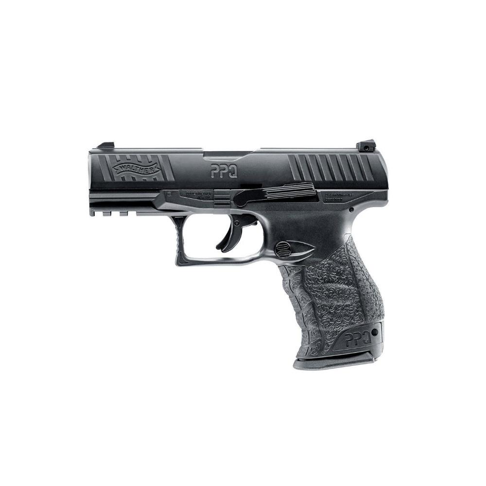 Pistol paintball cu bile de cauciuc/creta/vopsea Umarex Walther PPQ M2 T4E, cal.43 – black, 5 Jouli imagine spy-shop.ro 2021