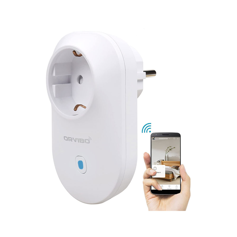 Priza smart Wi-Fi Orvibo B25EU, 2.4 GHz, control prin telefon imagine spy-shop.ro 2021