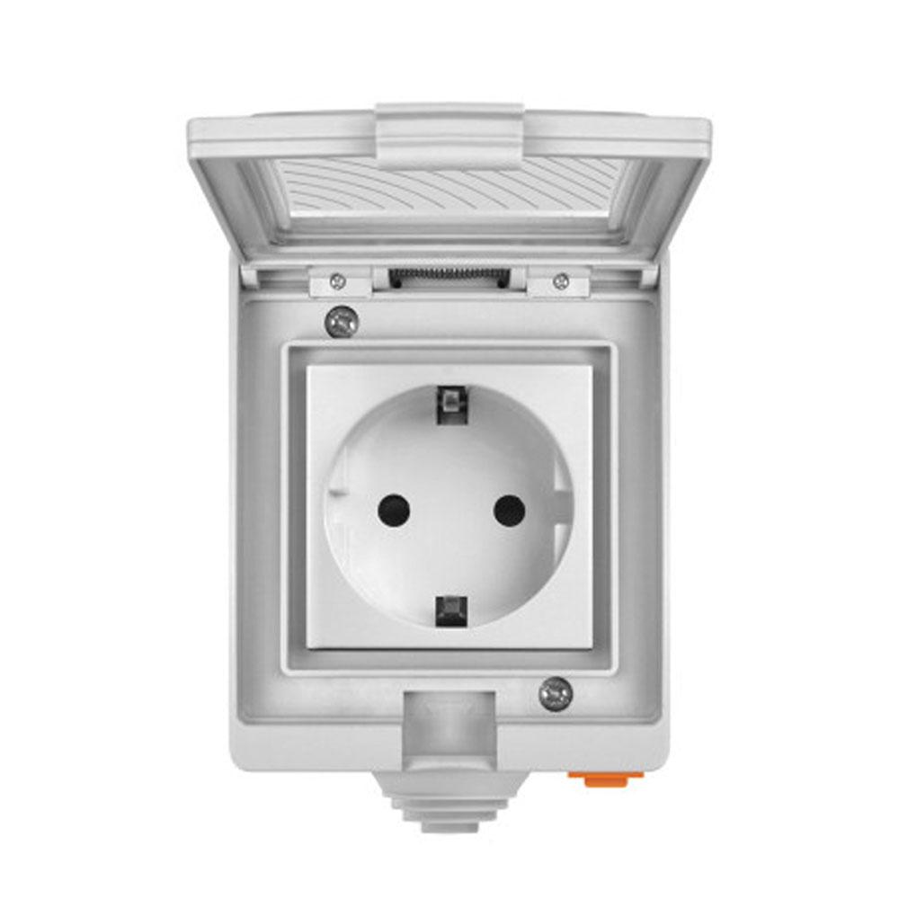 Priza smart WiFi pentru exterior SONOFF S55TPF, 16A, 2.4GHz, IP55 imagine spy-shop.ro 2021