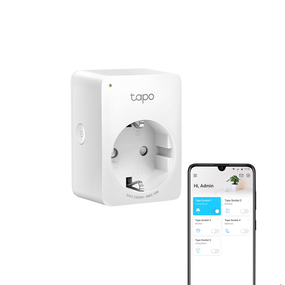 Priza smart WiFi TP-link Tapo P100(1-pack), 2.4 GHz, control de pe telefon imagine spy-shop.ro 2021