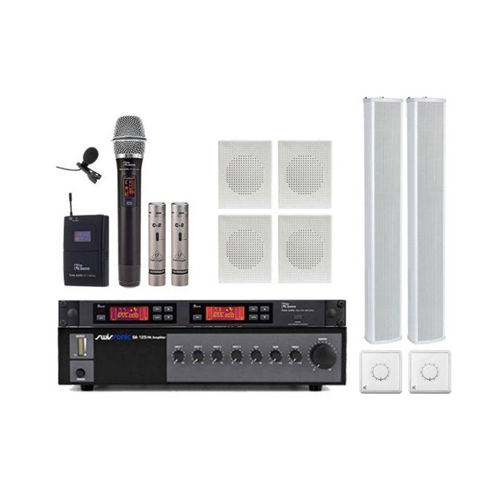 Radioficare Biserica PRO-1, sistem sonorizare interior, exterior, microfoane wireless