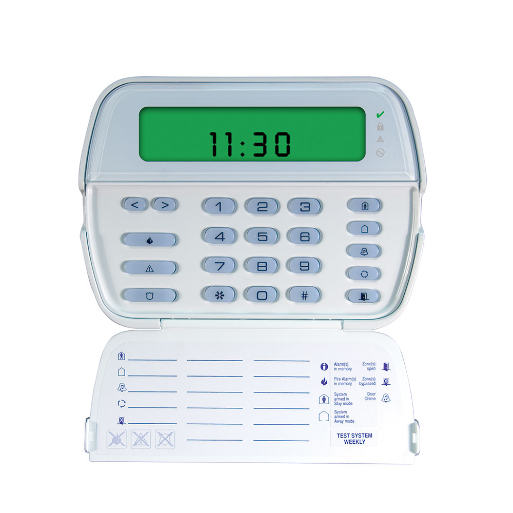 Tastatura LCD icon cu modul wireless DSC RFK5501, 64 zone, 8 partitii, 32 zone radio imagine spy-shop.ro 2021