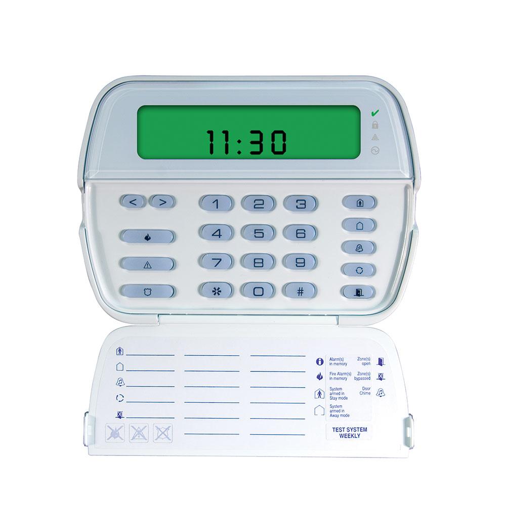 Tastatura LCD icon DSC PK5501, 64 zone, 8 partitii, 5 taste programabile imagine spy-shop.ro 2021