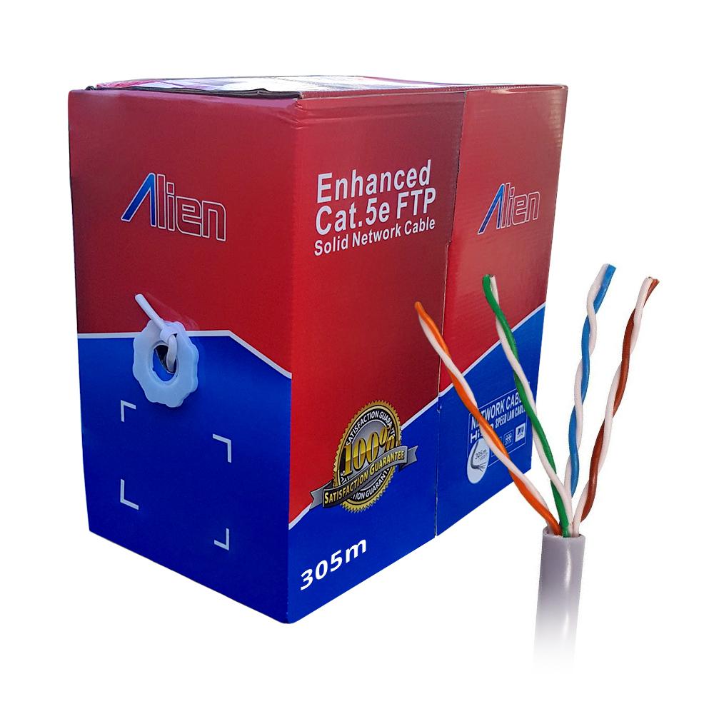 Rola cablu FTP CCA/305M, Cat5e, aluminiu cuprat, 0.5 mm, 305 m