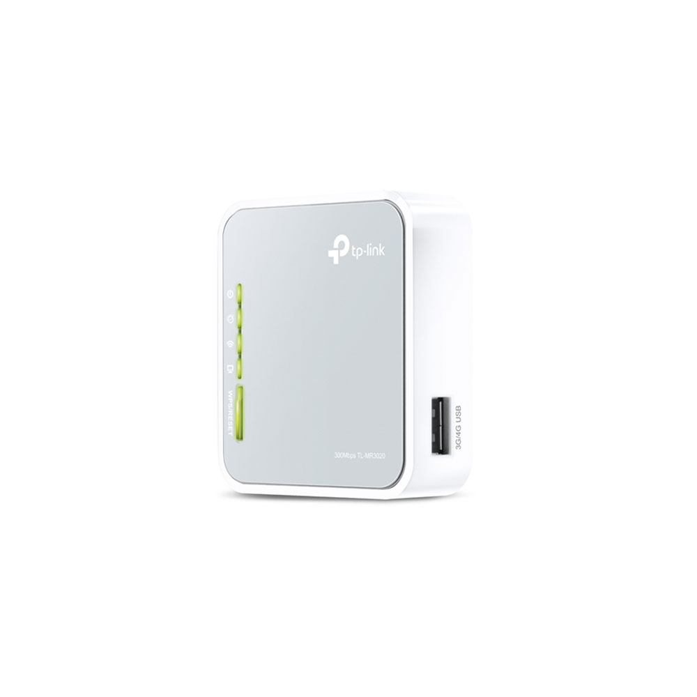 Router wireless portabil TP-Link TL-MR3020, GSM 3G/4G, 1 port WAN/LAN, 300 Mbps imagine spy-shop.ro 2021