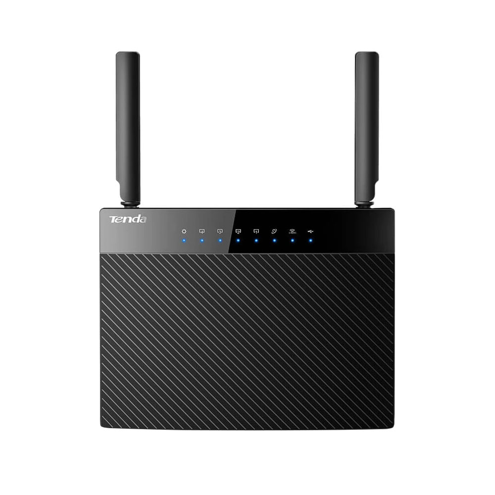 Router wireless Dual Band Gigabit Tenda AC9, 1 port WAN, 4 porturi LAN, 2.4/5.0 GHz, 3 dBi, 1200 Mbps