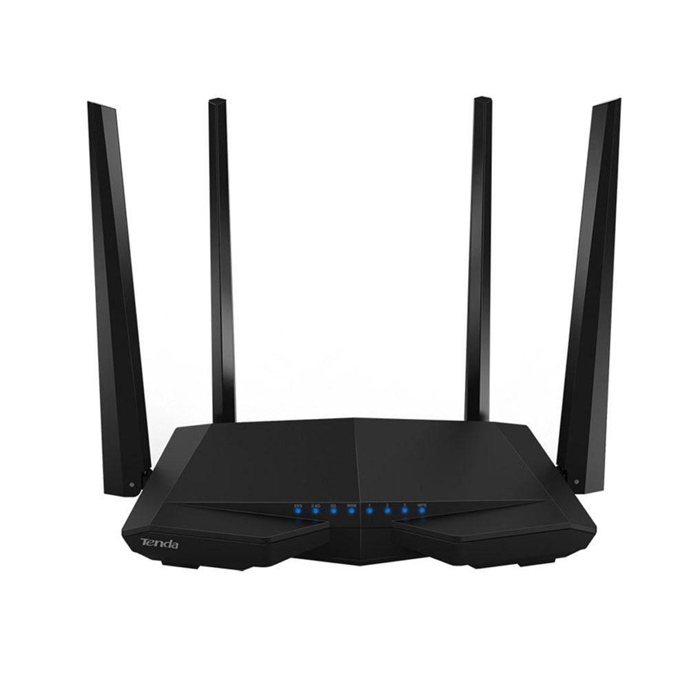 Router wireless Dual Band Tenda AC6, 1 port WAN, 3 porturi LAN, 2.4/5.0 GHz, 5 dBi, MU-MIMO, 1200 Mbps