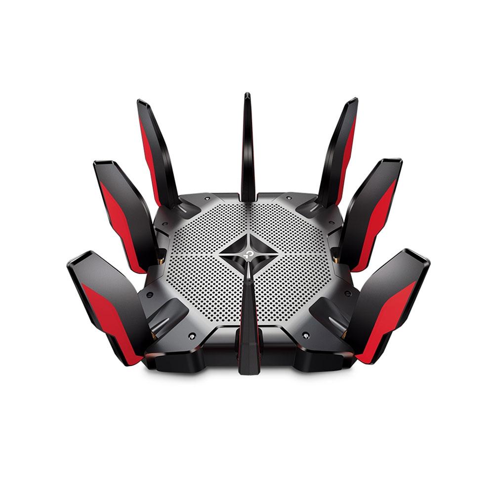 Router wireless gaming Tri-Band Gigabit TP-Link ARCHER AX11000, 8 porturi, 11000 Mbps imagine spy-shop.ro 2021