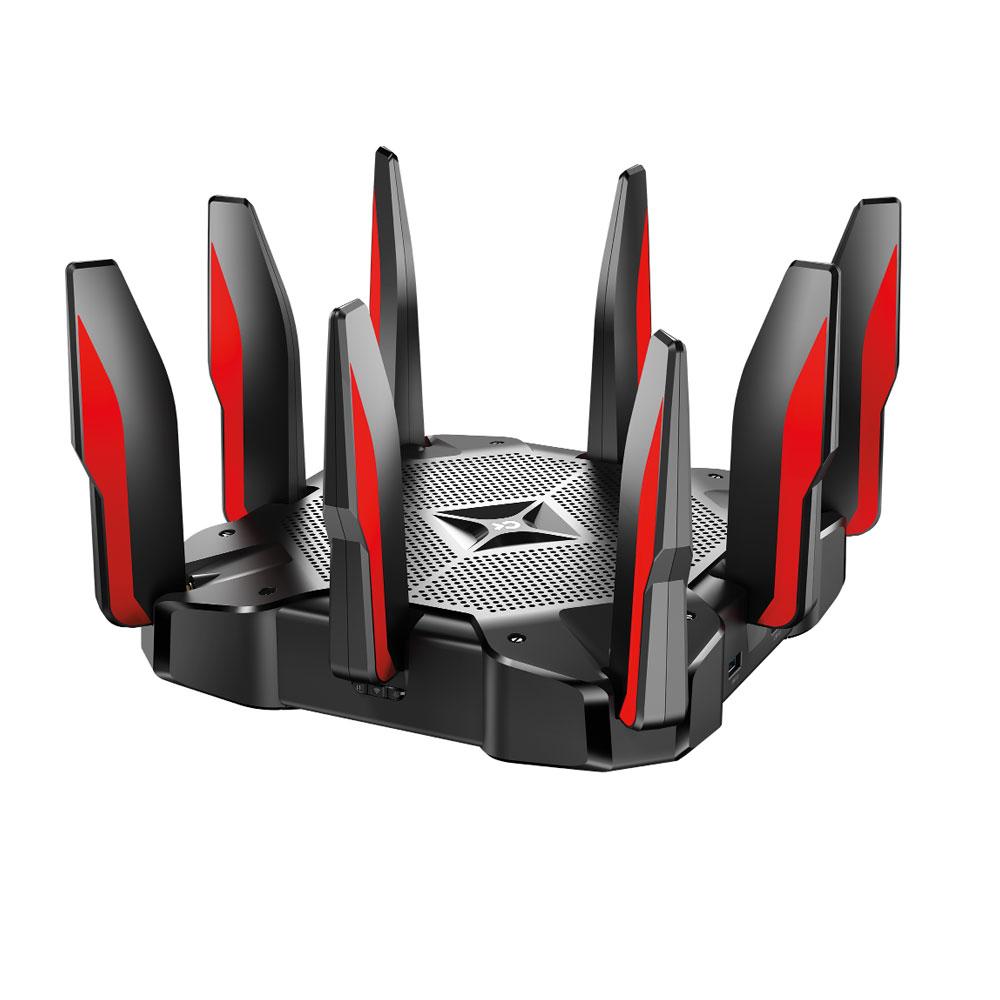 Router wireless Gaming Tri Band TP-Link ARCHER C5400X, 9 porturi, 5400 Mbps imagine spy-shop.ro 2021