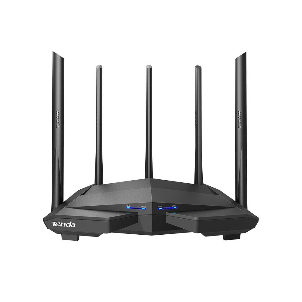 Router wireless Gigabit Dual Band Tenda AC11, 3 porturi LAN, 1 port WAN, MU-MIMO, 2.4/5.0 GHz, 6 dBi, 1200 Mbps