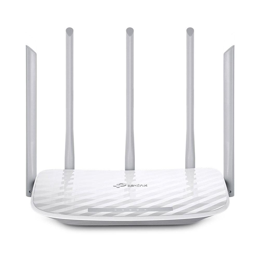 Router wireless Gigabit Dual Band TP-Link ARCHER C60, 5 porturi, 1350 Mbps imagine spy-shop.ro 2021