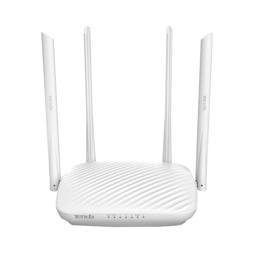 Router wireless Tenda F9, 1 port WAN, 3 porturi LAN, 2.4 GHz, 6 dBi, 600 Mbps