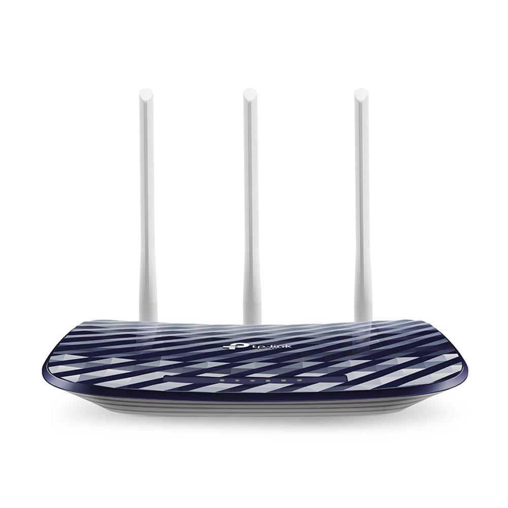 Router wireless Dual Band TP-Link ARCHER C20, 5 porturi, 433 Mbps imagine spy-shop.ro 2021