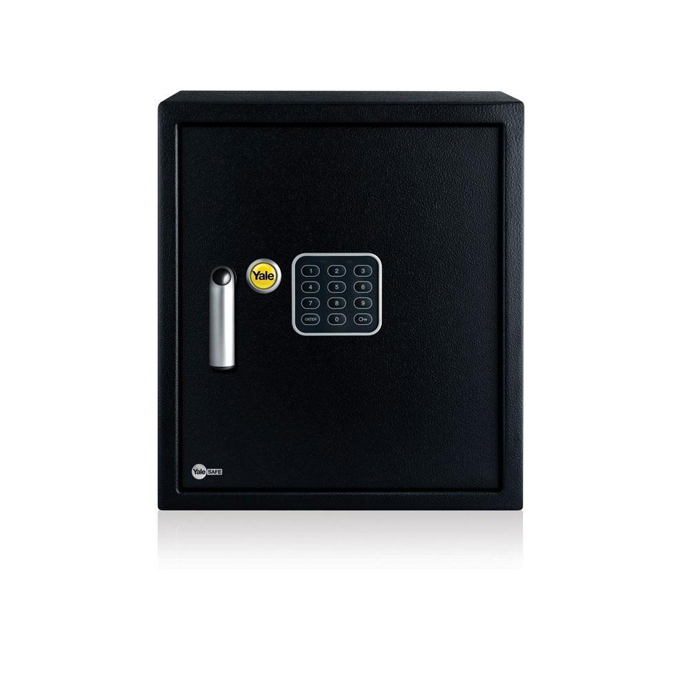 Seif standard birou YALE YSV/390/DB1, negru, otel imagine spy-shop.ro 2021