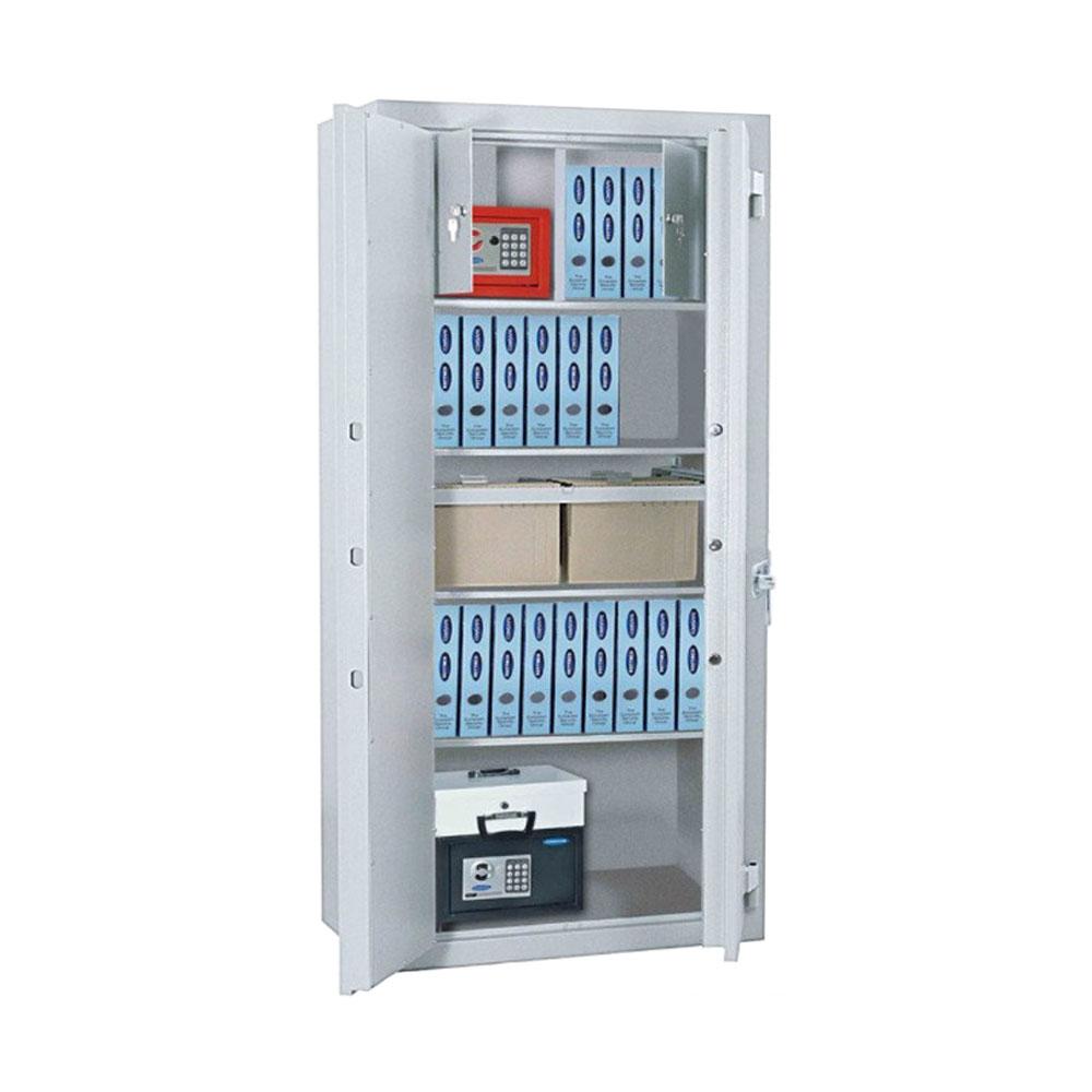 Seif tip dulap antiefractie Rottner Office 3 Premium EL T05034, cod PIN, ignifug, bolturi pe 3 laturi, inchidere electronica imagine spy-shop.ro 2021